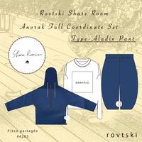 【ROVTSKI】SHARE ROOM ANORAK  FULL COORDINATE SET [TYPE-ALADIN PANT ]