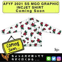 ネオ文芸派🎃エッセイ     『MEXICAN ROSES』【AFYF】 2021 SS MGO GRAPHIC INCJET 開襟シャツ-WHITE