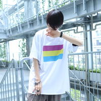 【AFYF ON GILDAN社】 🌈# U LOVES FRIEND T-SHIRTS FLAG B [WHITE]