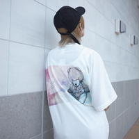 【AFYF】 COOL TECH (冷感接触素材) PRINT TRIANGLE TEE [FLOAT ACID-WHITE] / 4T20021528