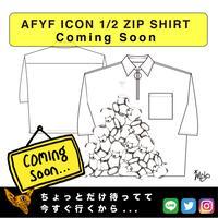 【AFYF】 ICON 1/2 ZIP SHIRT [WHT-TSUMU TSUMU]