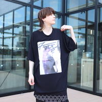 【AFYF】 MESH OVERSIZED T SHIRT [HAIR MESH-BLACK]