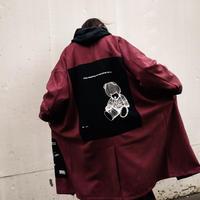 【AFYF】SWEADE PATCH COAT[DARK WINE]