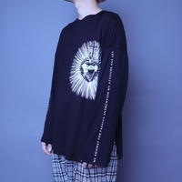 【AFYF】 BASIC OVERSIZED GRAPHIC LST [HEART-Ⅱ-BLACK]