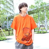 【AFYF ON GILDAN社】 RAINBOW BEAR T SHIRT [ORANGE]