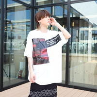 【AFYF】 MESH OVERSIZED T SHIRT [AGAINST MESH-WHITE] / 6T19080201