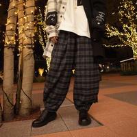 【AFYF】ALADIN PANT[CHECK-NVY×GRY×BLK]