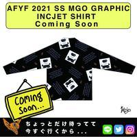ネオ文芸派🎃短編小説     『THOM LONLEY BEAR』【AFYF】 2021 SS MGO GRAPHIC INCJET 開襟シャツ-BLACK