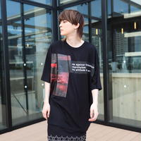 【AFYF】 MESH OVERSIZED T SHIRT [AGAINST MESH-BLACK]