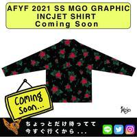 ネオ文芸派🎃エッセイ     『MEXICAN ROSES』【AFYF】 2021 SS MGO GRAPHIC INCJET 開襟シャツ-BLACK