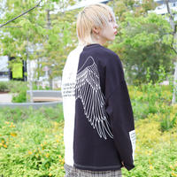 【AFYF】 OPENEND LS T SHIRT [BROKEN ANGEL WING-BLACK]