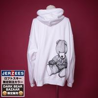 【AFYF】RAINBOW DARK BEAR JERZEES別注色 PARKA[WHITE]