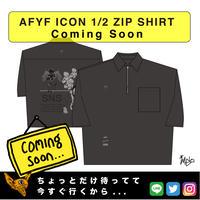 【AFYF】 ICON 1/2 ZIP SHIRT [BLK-S.GLE]