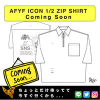 【AFYF】 ICON 1/2 ZIP SHIRT [WHT-S.GLE]