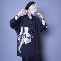 【AFYF】  ICON BIG SHIRT[ELEPHA-BLK]