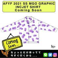 ネオ文芸派🎃エッセイ     『FABLOUS BLOSSOM』【AFYF】 2021 SS MGO GRAPHIC INCJET 開襟シャツ-WHITE