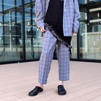 【CLASSIC ROV】 TROPICAL (清涼スーツ素材) CROPPED PANT [杢BLACK CHECK] / 4B19122902