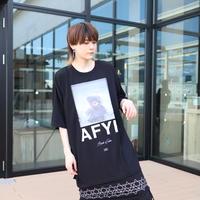 【AFYF】 MESH OVERSIZED T SHIRT [FET BEAR MESH MESH-BLACK]