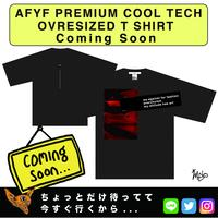 【AFYF】PREMIUM COOL TECH (冷感接触素材) OVRESIZED T SHIRT 2  [AGAINST-BLK]