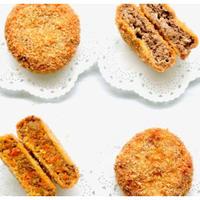 和牛メンチカツ食べくらべセット(カレー味噌×2個、ねぎ味噌×2個)