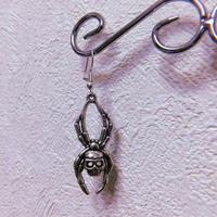 Skull Spider Earring