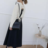 【予約商品】W &C  Back ribbon knit