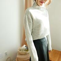 数量限定/リブturtle neck knit