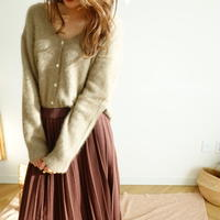 Raccoon Vneck cardigan