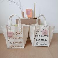 lettering キャンバストートbag