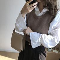予約商品/Knit short vest