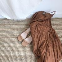 Two belt heel sandal