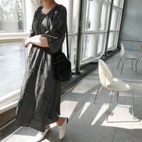 Dot  Spring(5分丈) dress