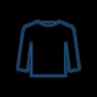 +REBONE / 藍染めサービス 長袖Tシャツ