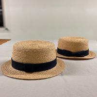 デニムリボンのカンカン帽(藤井製帽 × LOG  ORIGINAL)