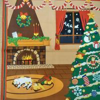 三毛猫みけの夢日記 小ふろしき 12月「みけのクリスマス」50センチ