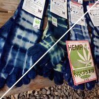 藍染めhemp cotton 靴下