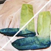 藍と福木の靴下organic23〜25cmレディース