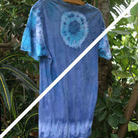 Organic cotton 100%藍染めTee  M