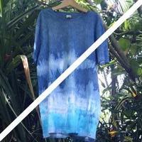 Organic cotton 100%藍染めTee L