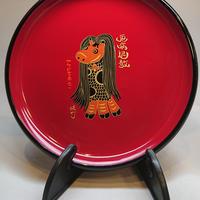 飾り皿 あまびえ赤べこ