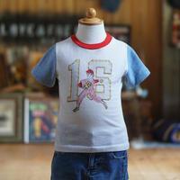70sヴィンテージベースボール柄キッズTシャツ