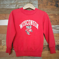 70s〜80s ヴィンテージ  WISCONSIN キッズ スウェット