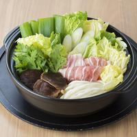 大盛うどんすき+野菜セット(4人前)(12月〜4月)