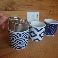 和柄HASAMI焼CUP+SS strainer茶こし セット