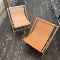 TivolI And Ikedasya Wood Folding Leather Chair ウッドチェア オーク