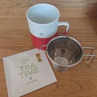 バイカラーHASAMI焼CUP+SS strainer茶こし セット