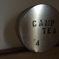 リサイクルお茶缶  CAMP TEA  No入れ