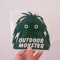 OUTDOORMONSTER  FACE カッティングステッカー 別注GREEN