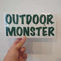 OUTDOORMONSTER  LOGO カッティングシート 別注GREEN