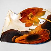 White-lipped Pearl Oyster Makie -Lotus Passage 白蝶貝蒔絵 蓮の通い路
